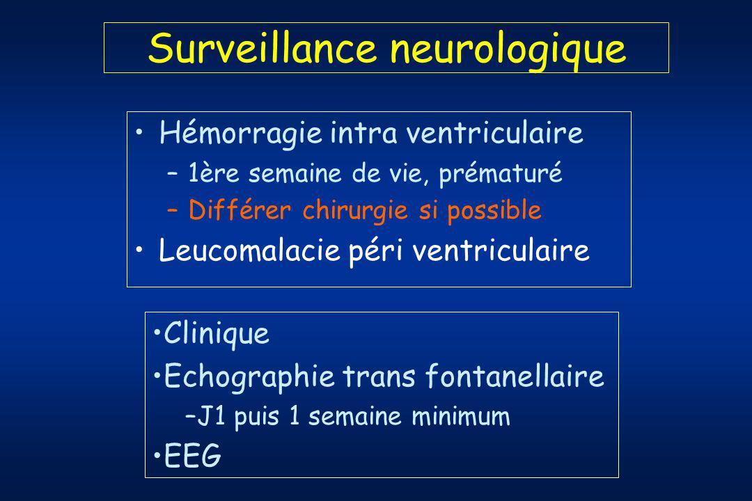 Surveillance neurologique