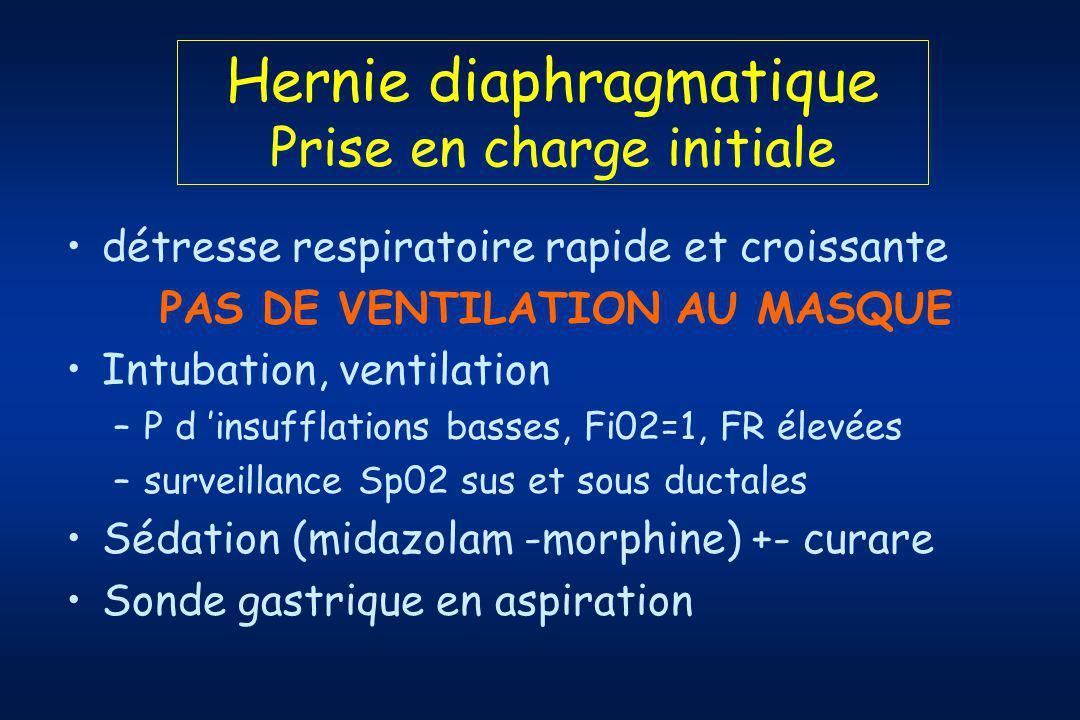 Hernie diaphragmatique Prise en charge initiale