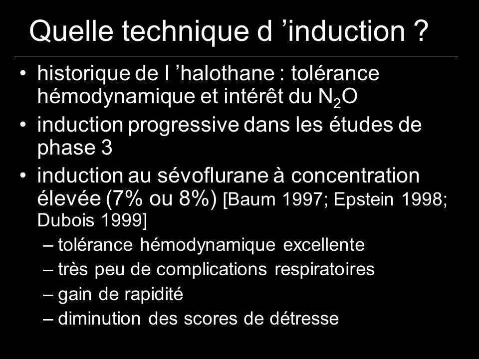 Quelle technique d 'induction