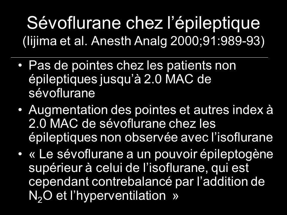 Sévoflurane chez l'épileptique (Iijima et al