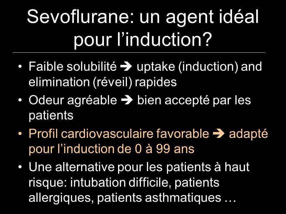 Sevoflurane: un agent idéal pour l'induction