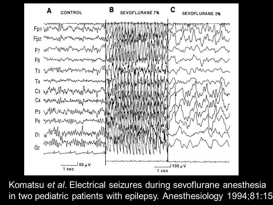 Komatsu et al. Electrical seizures during sevoflurane anesthesia
