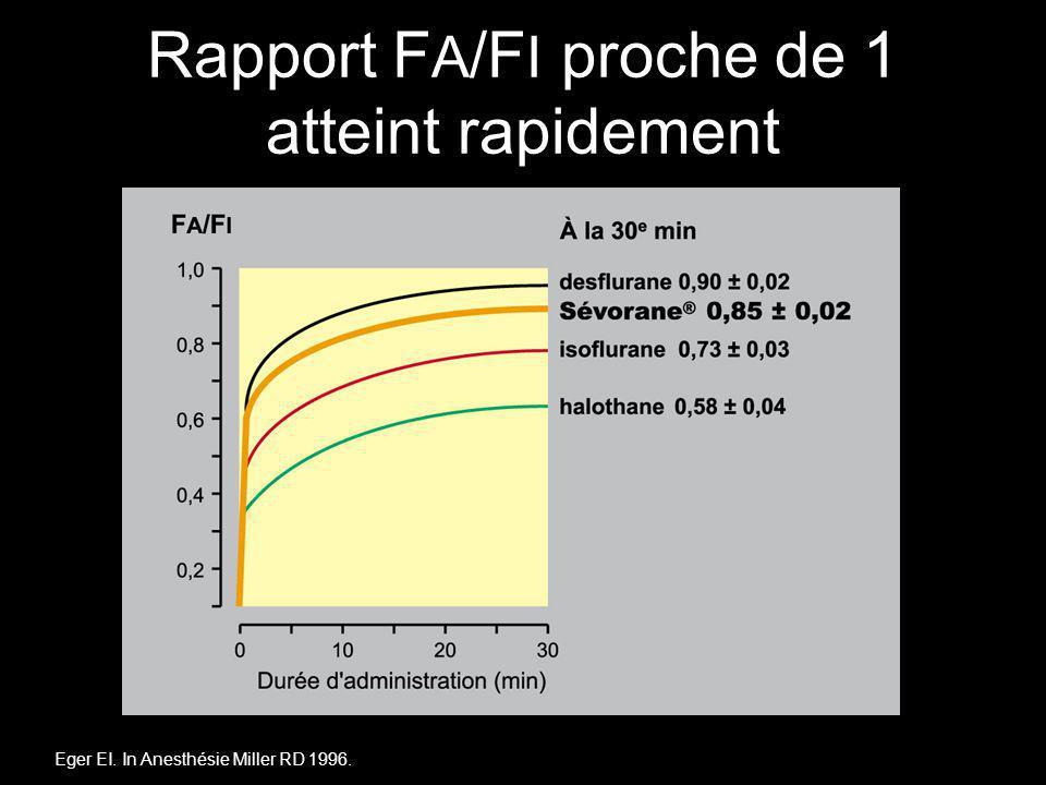 Rapport FA/FI proche de 1 atteint rapidement