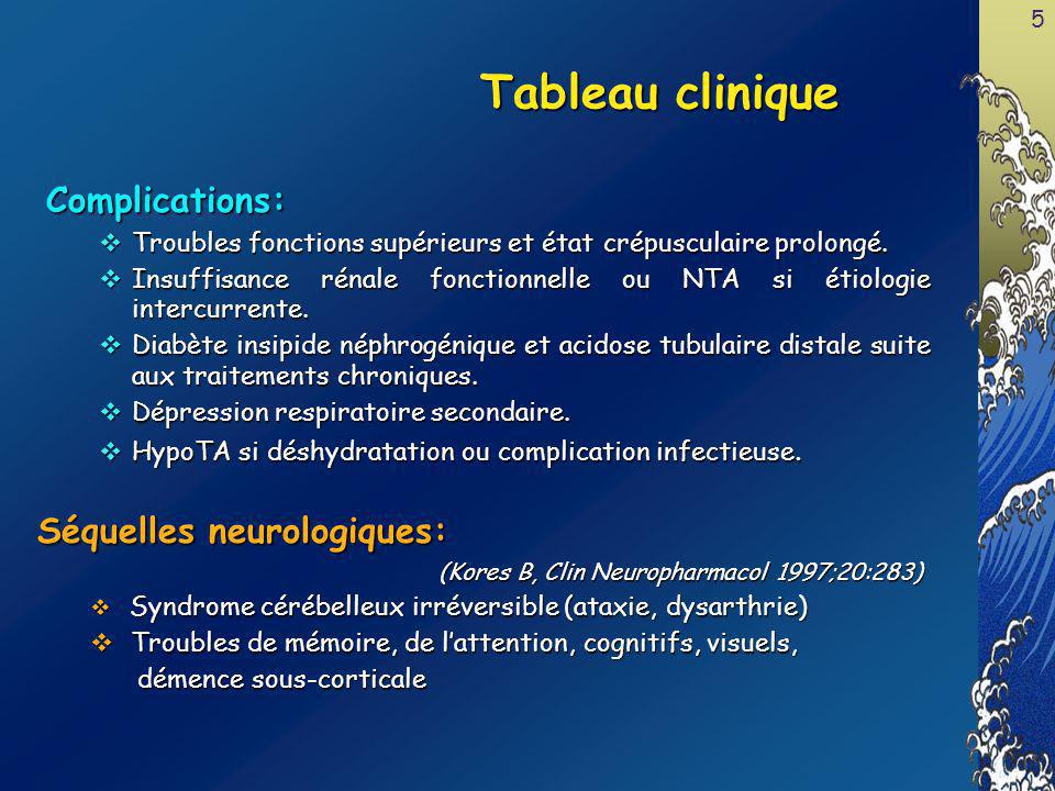Tableau clinique Complications: Séquelles neurologiques: