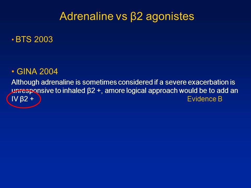 Adrenaline vs β2 agonistes