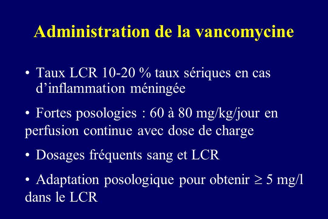 Administration de la vancomycine