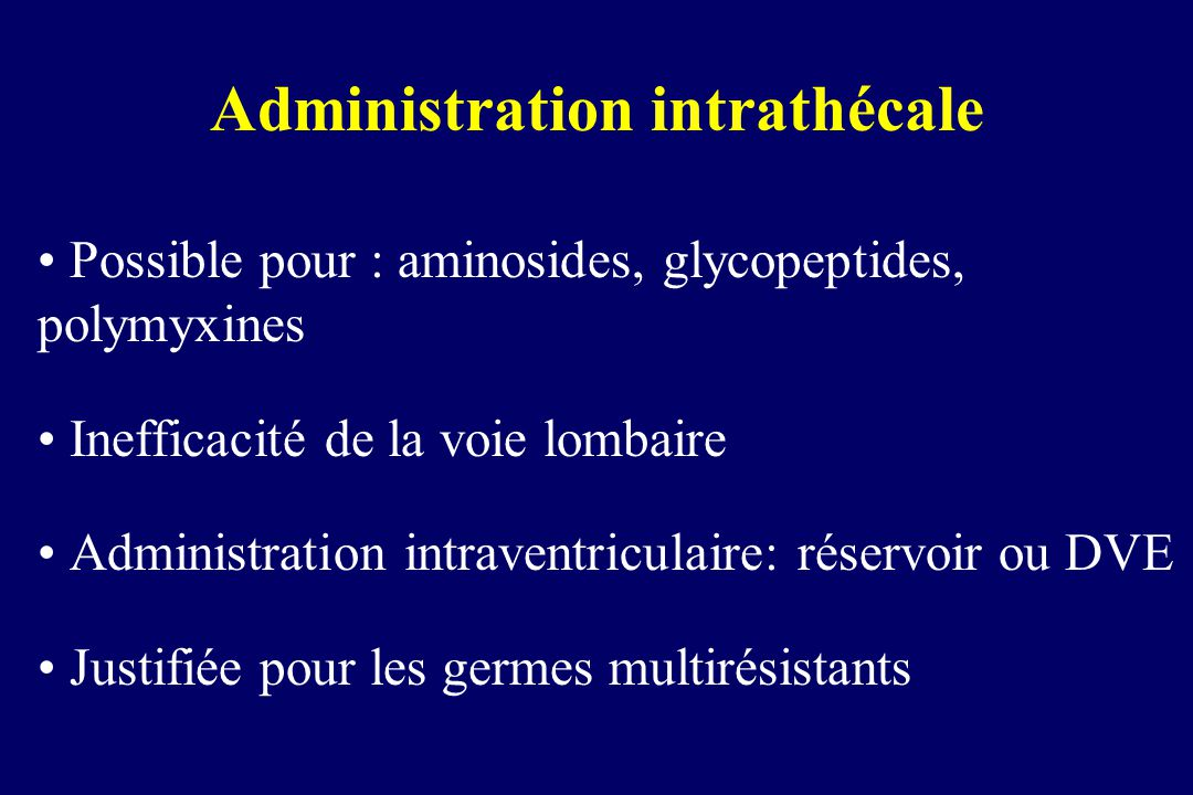 Administration intrathécale
