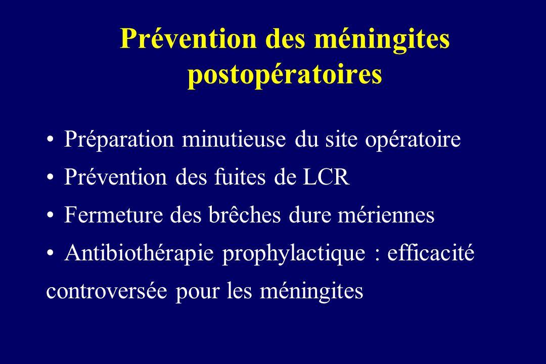 Prévention des méningites postopératoires