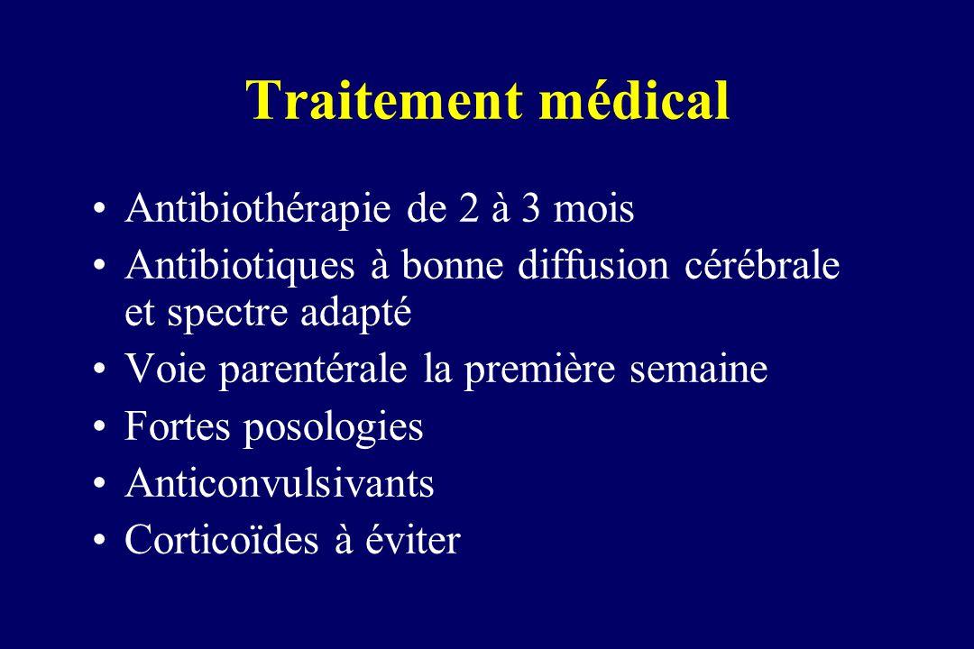 Traitement médical Antibiothérapie de 2 à 3 mois