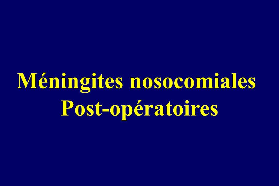 Méningites nosocomiales