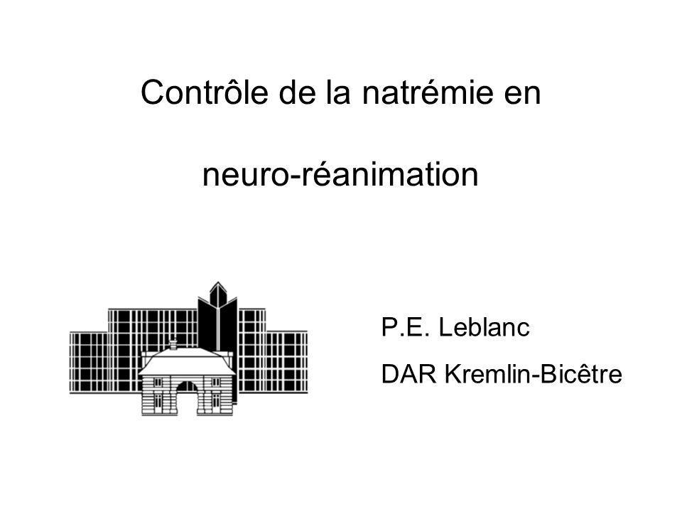 Contrôle de la natrémie en neuro-réanimation