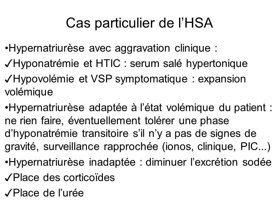 Cas particulier de l'HSA