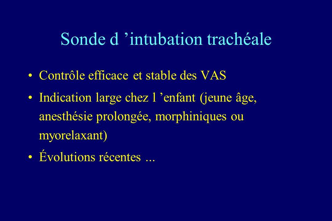 Sonde d 'intubation trachéale