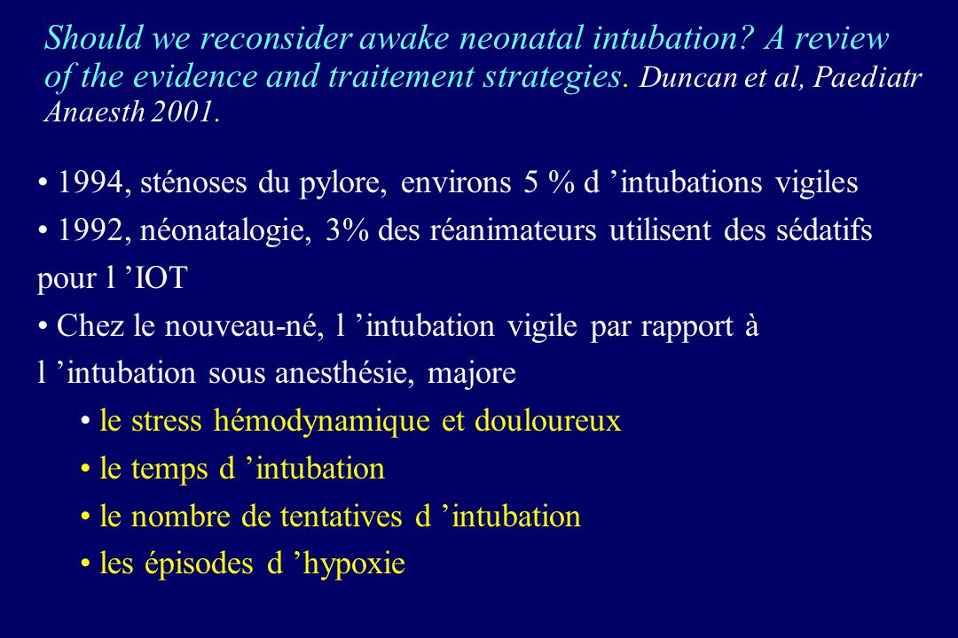 Should we reconsider awake neonatal intubation