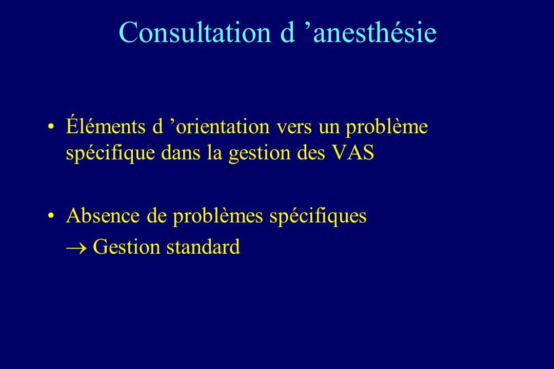 Consultation d 'anesthésie
