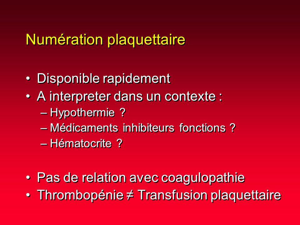 Numération plaquettaire