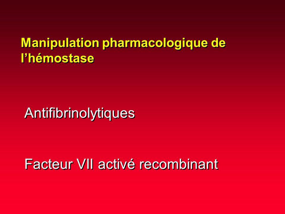 Antifibrinolytiques Facteur VII activé recombinant