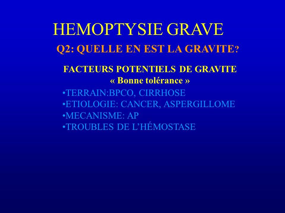 FACTEURS POTENTIELS DE GRAVITE
