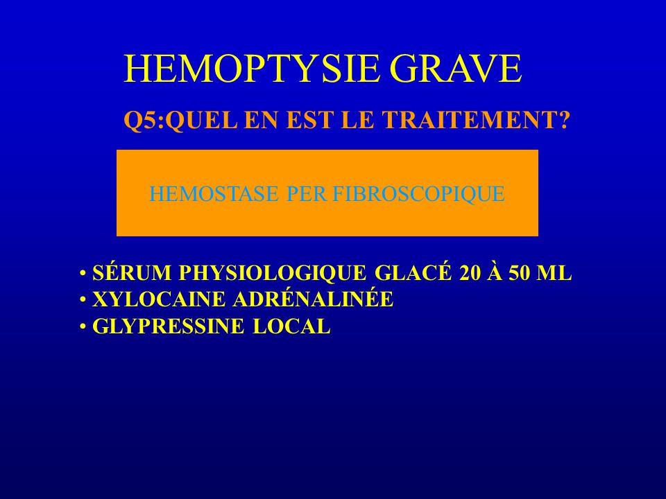 HEMOSTASE PER FIBROSCOPIQUE