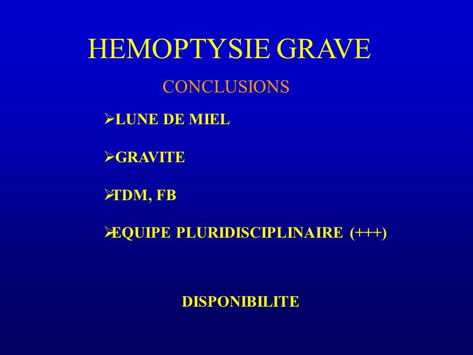 HEMOPTYSIE GRAVE CONCLUSIONS LUNE DE MIEL GRAVITE TDM, FB