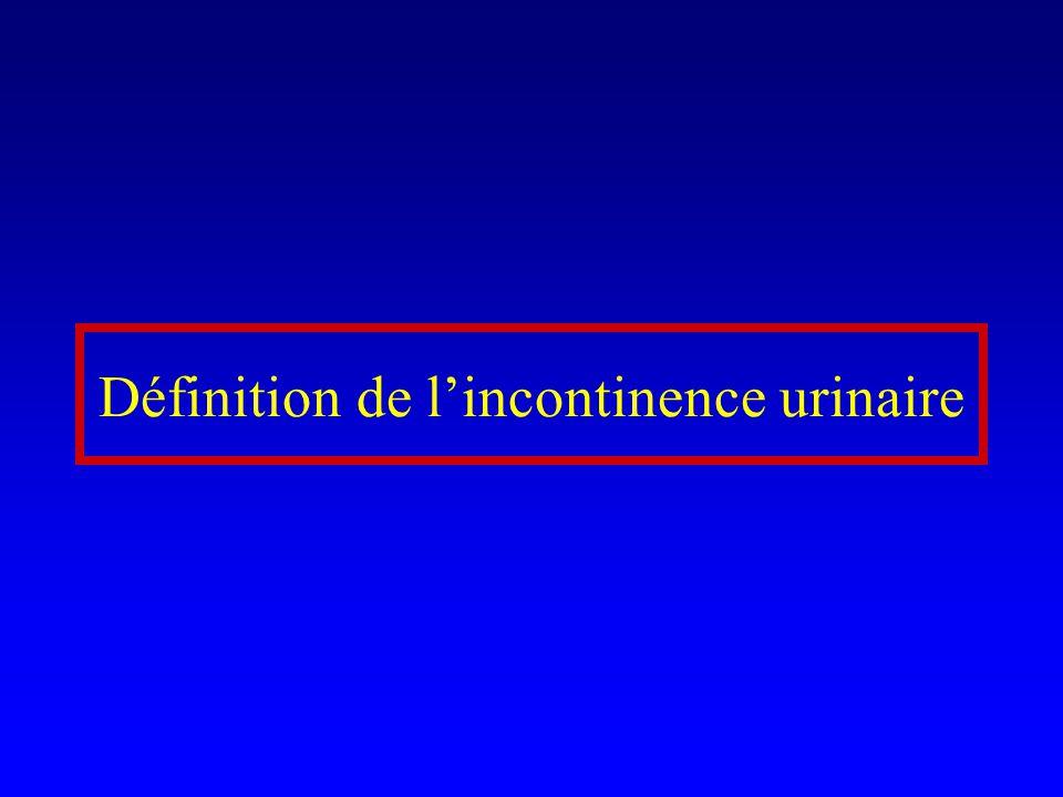 Définition de l'incontinence urinaire