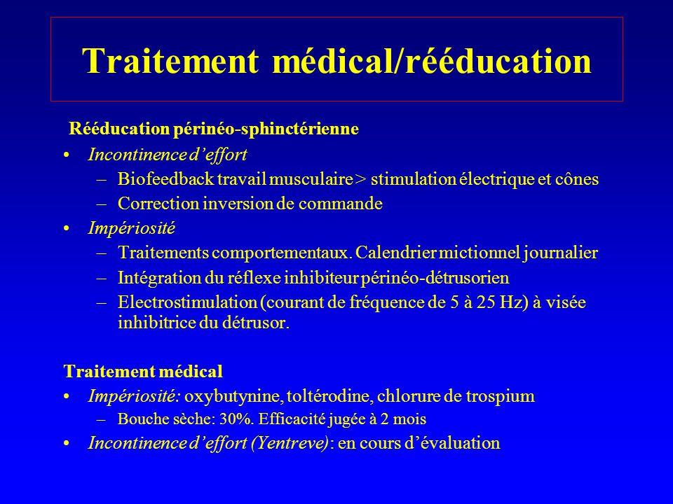 Traitement médical/rééducation