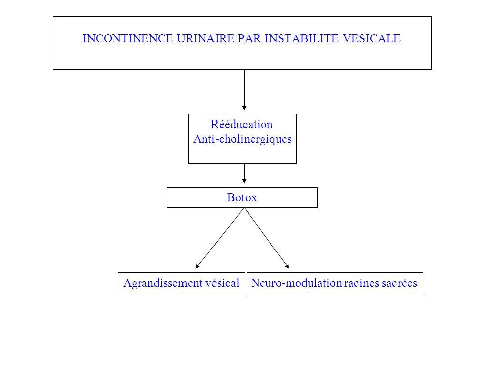INCONTINENCE URINAIRE PAR INSTABILITE VESICALE