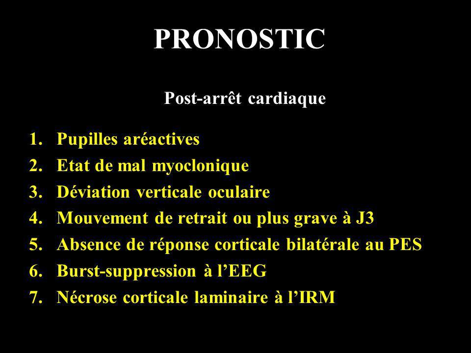 PRONOSTIC Post-arrêt cardiaque Pupilles aréactives