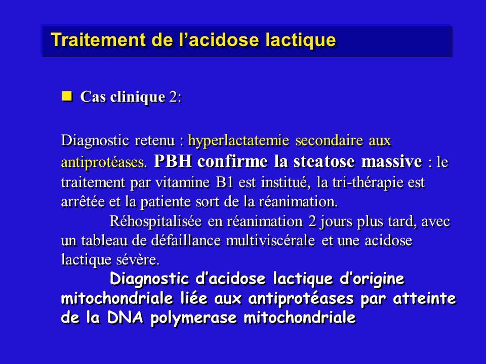 Traitement de l'acidose lactique