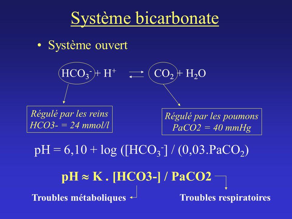 Système bicarbonate Système ouvert