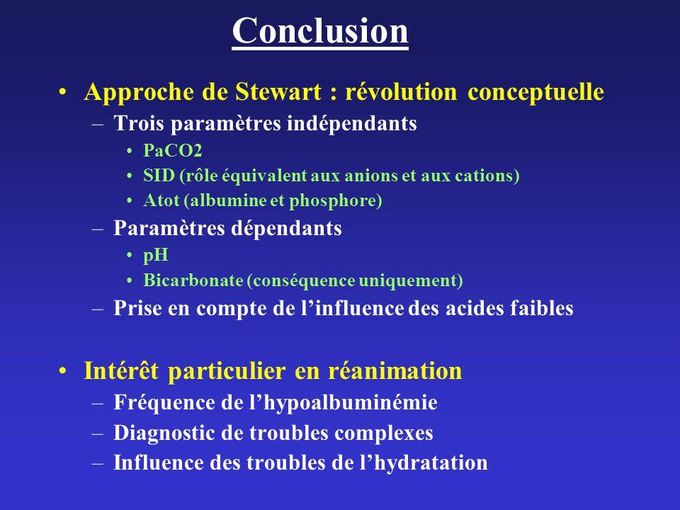 Conclusion Approche de Stewart : révolution conceptuelle
