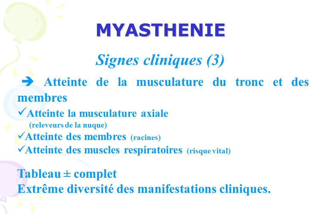 MYASTHENIE Signes cliniques (3)