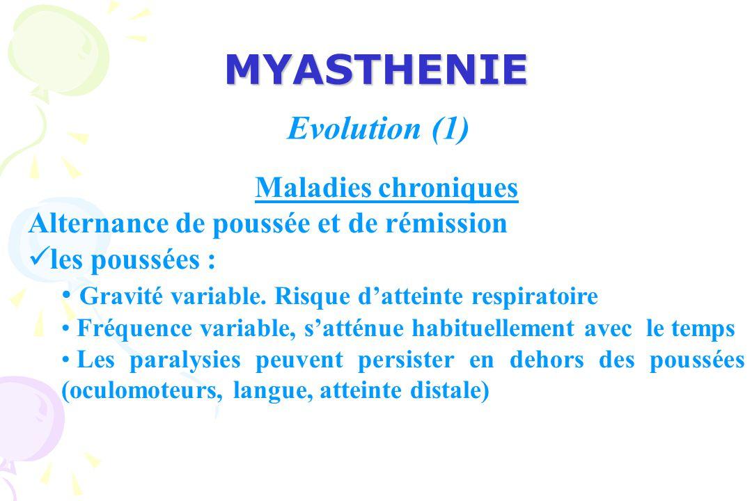 MYASTHENIE Evolution (1) Maladies chroniques