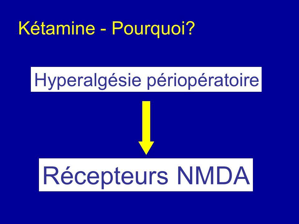 Kétamine - Pourquoi Hyperalgésie périopératoire Récepteurs NMDA