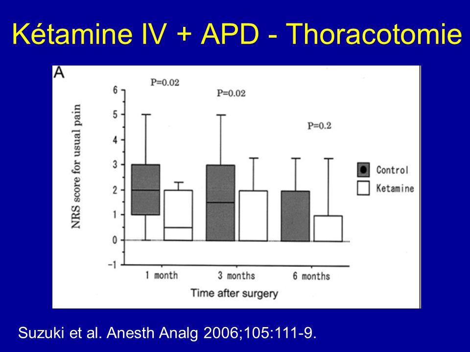 Kétamine IV + APD - Thoracotomie