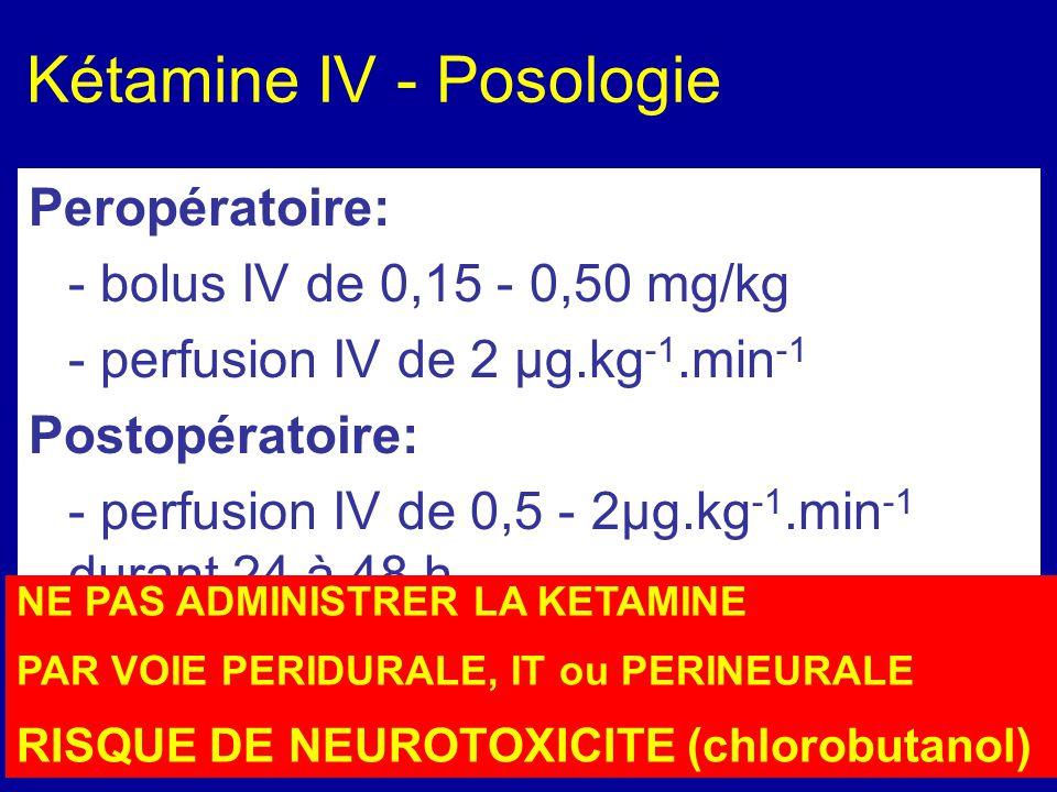 Kétamine IV - Posologie