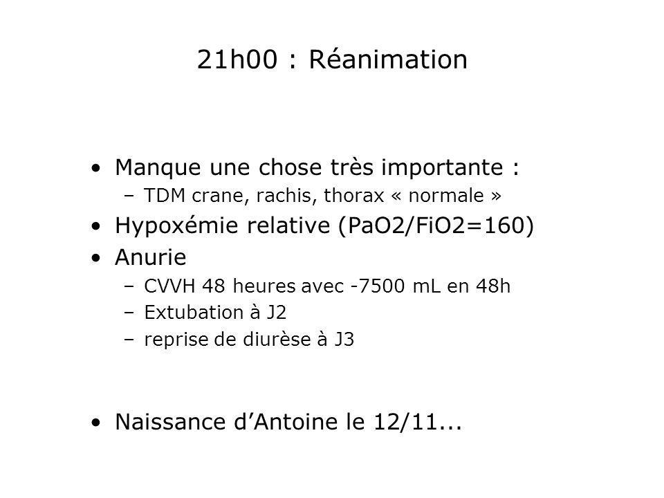 21h00 : Réanimation Manque une chose très importante :