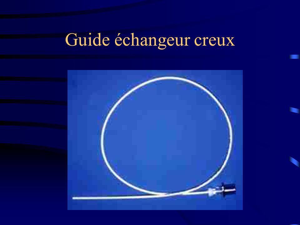 Guide échangeur creux