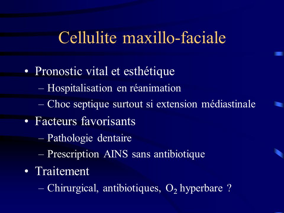Cellulite maxillo-faciale