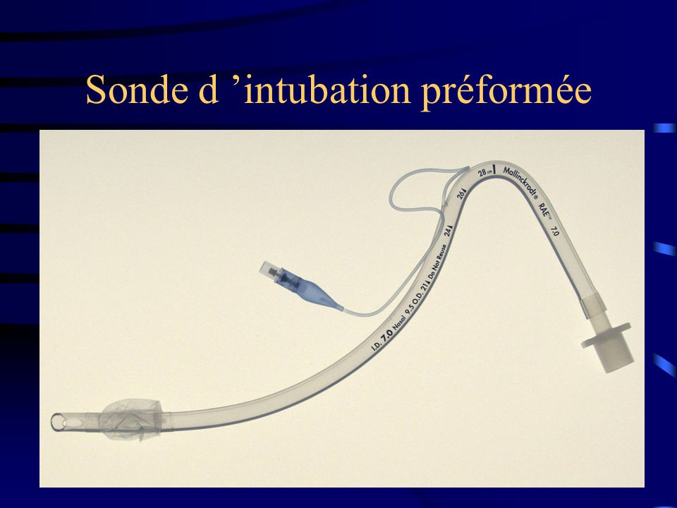 Sonde d 'intubation préformée