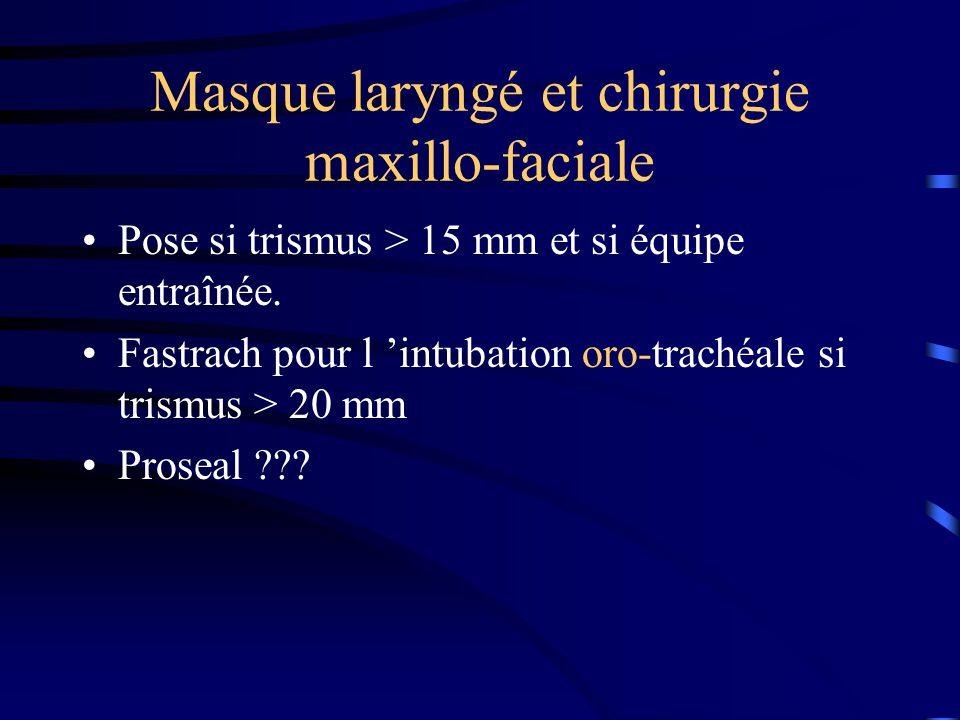 Masque laryngé et chirurgie maxillo-faciale
