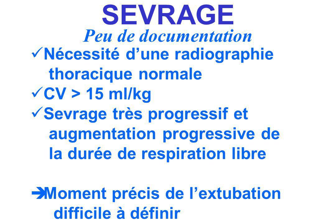 SEVRAGE Peu de documentation Nécessité d'une radiographie