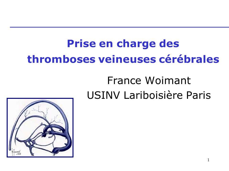 Prise en charge des thromboses veineuses cérébrales