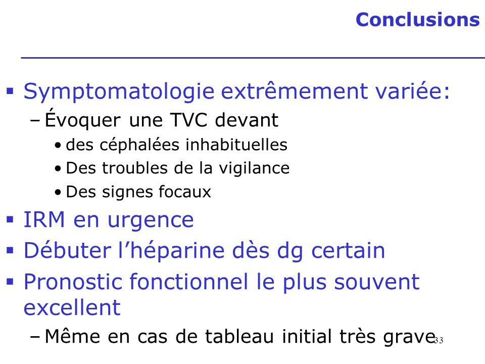 Symptomatologie extrêmement variée: