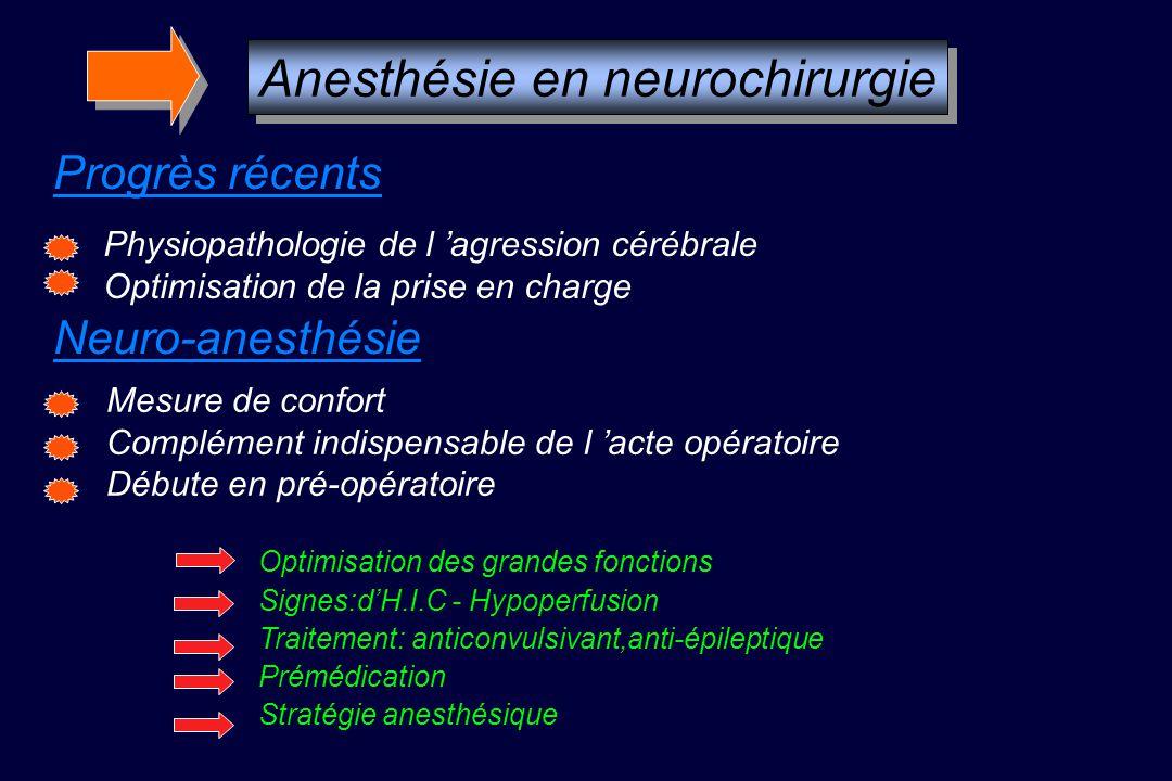 Anesthésie en neurochirurgie