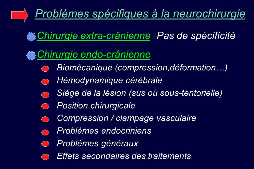 Problèmes spécifiques à la neurochirurgie