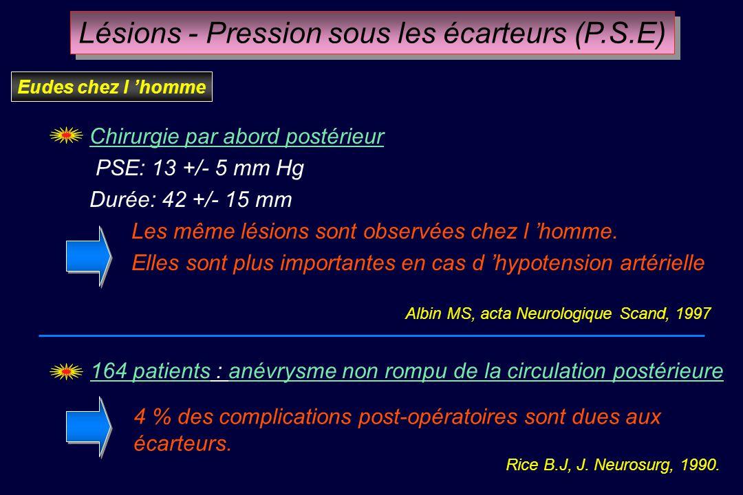 Lésions - Pression sous les écarteurs (P.S.E)