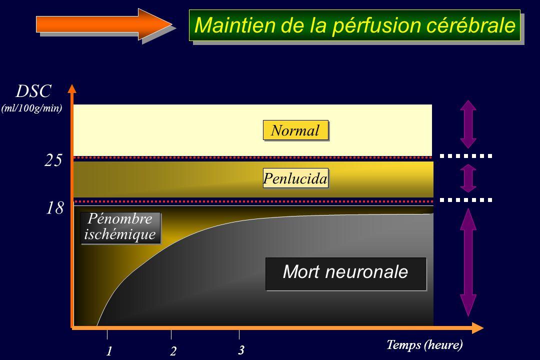 Maintien de la pérfusion cérébrale
