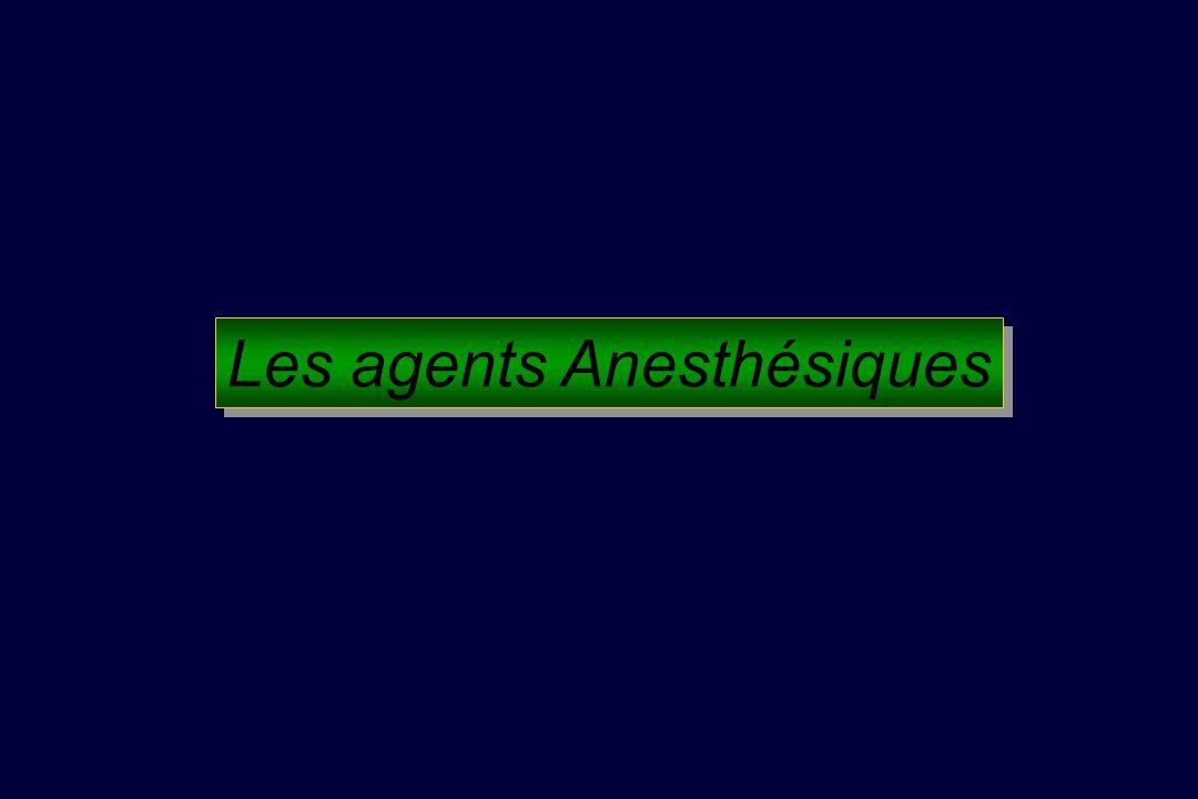 Les agents Anesthésiques