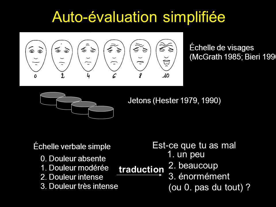 Auto-évaluation simplifiée